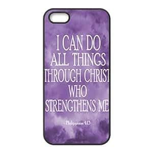 First Design Funny Philippians Religious Bible Verse Inspirational- Jesus Christ RUBBER iphone 5 Durable Case Kimberly Kurzendoerfer