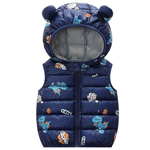 Baby Down Vest Kids Gewatteerde Gilet Jongens Meisjes Hooded Vest Lichtgewicht Bodywarmer Mouwloos Puffer Jacket
