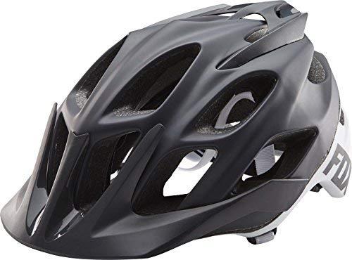 Fox Head Adult Flux MTB Racing Bike Helmet (Creo Black/White, Small/Medium) - Fox Flux Mtb Helmet
