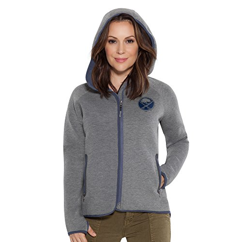 Touch by Alyssa Milano NHL Buffalo Sabres Women's Drop Kick Jacket, Grey, Large ()
