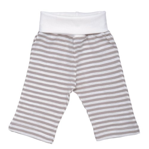 Nature's Nursery Rolled Waist Pant in Nature's Nursery Stripe (3-6M) by Under the Nile