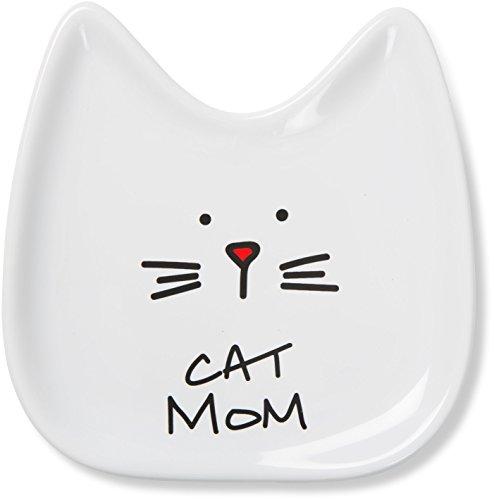 Pavilion Gift Company Blobby Cat, Cat Spoon Rest Cat Mom, 5, White