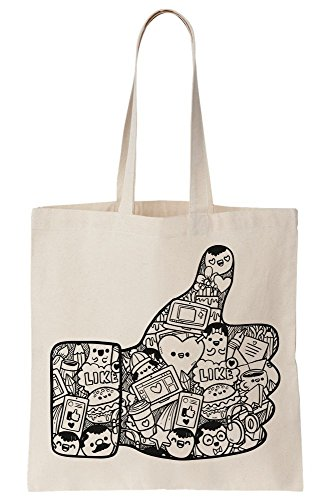 Thumb Of Likes Canvas Tote Big Bag Up wA4Edq1x01