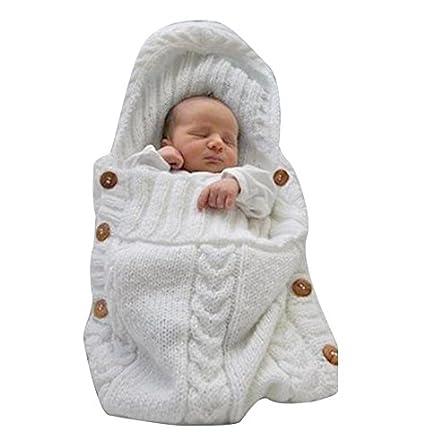e356a61af Saco de dormir Jiaqinsheng para recién nacido de lana tejida