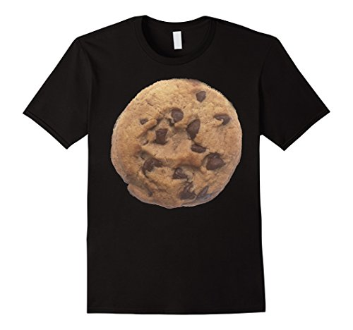 [Mens Cookie last minute Halloween funny matching costume tshirt 2XL Black] (Last Minute Halloween Costumes Couples)