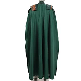 Men's Halloween Costume Hero Green Armor Suit Full Set With Cloak