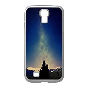 lintao diy Beautiful Night Sky Watercolor style Cover Samsung Galaxy S4 I9500 Case (Mountains Watercolor style Cover Samsung Galaxy S4 I9500 Case)