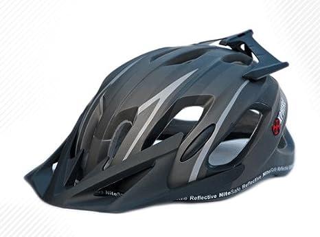 Prowell X9 - Casco de ciclismo de montaña negro negro mate Talla:M ...
