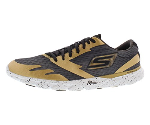 Men-s Skechers GOMeb Speed 2 - New York Gold/Black-GDBK 10