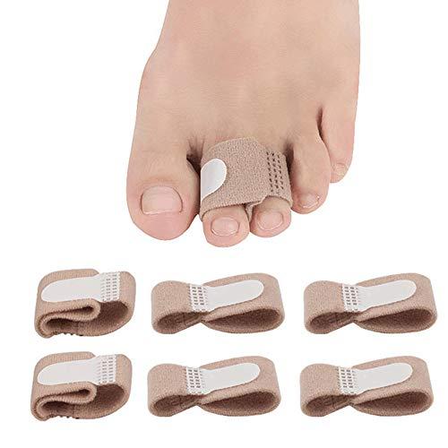 6 Pack Toe Wraps Cushioned Bandages Hammer Toe Separator Splints