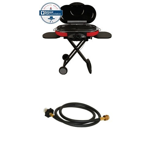 Coleman 9949-750 Road Trip Grill LXE and Coleman 2000005062 5-Ft. High-Pressure Hose & Adapter - Road Trip Propane Grill