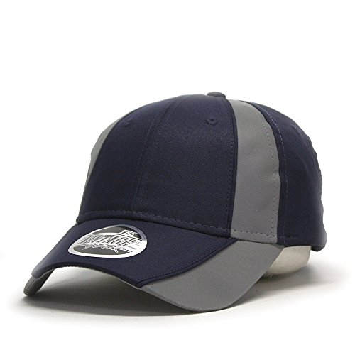 ive High Visibility Piping Neon Polyester Twill Low Profile Baseball Cap (Navy/Ref.Gray) ()