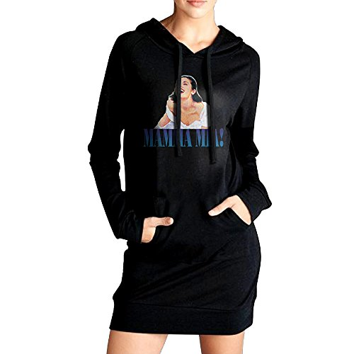 (QUQLA Women's Hooded Pullover Sweatshirt Mamma Mia Classical Musicals)