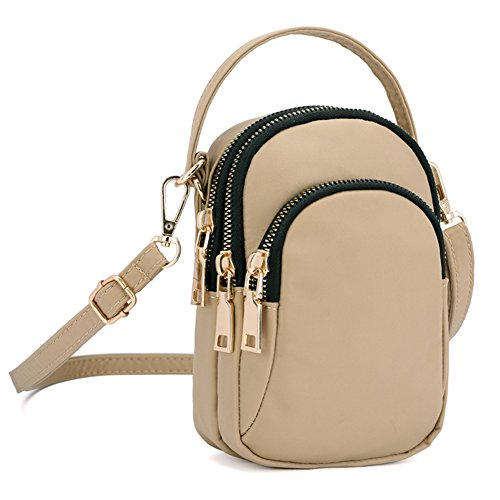 A Small Purse SCIEN Bags Women for Khaki Phone Crossbody Cell qXw1Axwd8