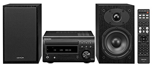 Denon D-M41 Home Theater Mini Amplifier and Bookshelf Speaker Pair - Compact HiFi Stereo System with CD, FM/AM Tuner and Wireless Bluetooth Music | Perfect for Small Rooms and Home Cinema (Best Stereo System In The World)