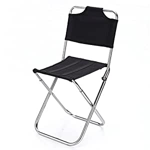 nhsunray Mini silla de campamento plegable aleación de ...
