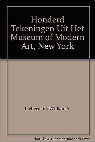 Honderd Tekeningen Uit Het Museum Of Modern Art New York William S
