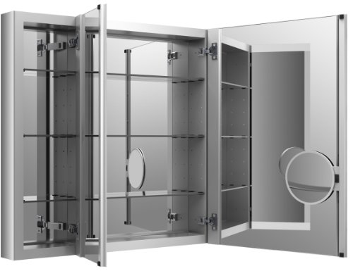 KOHLER K-99011-NA Verdera 40-Inch By 30-Inch Slow-Close Medicine Cabinet With Magnifying Mirror (48 Medicine Cabinet)
