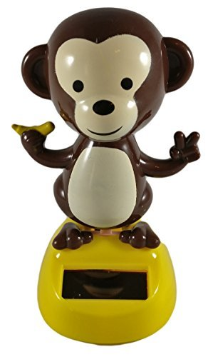 Japanese Quality Solar Powered Dancing Monkey Bobblehead