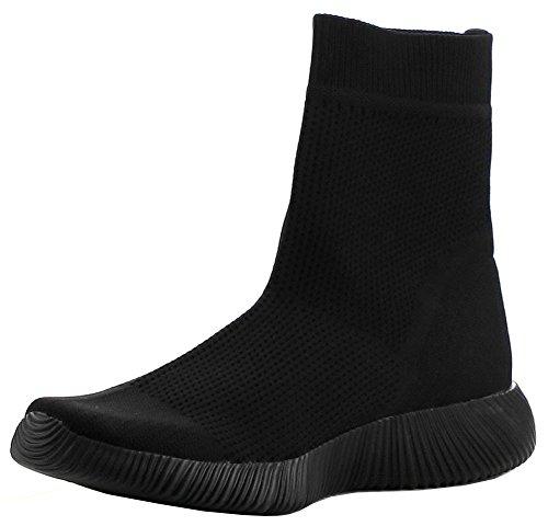 Women's Black Sole Boot Breathable ROBBIN Textured Stretch CAPE Sock 8Hw5SFqw