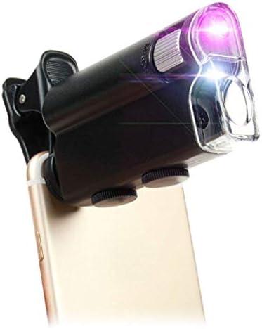 ZY-YY ポータブルグラス2.5回/ 45回ハンドヘルド読みガラスハイパワー鏡付きLEDライトを引いて