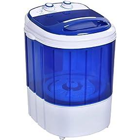 Small Mini Portable Compact Washer Washing Machine 6.6lbs Capacity Blue New