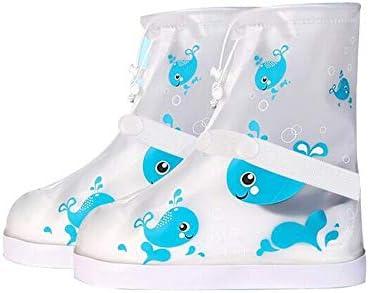 XHYRB 靴カバー、防水ノンスリップショートチューブの子供の靴カバー、靴のパターンの再利用可能な靴カバー 防水靴、防雨カバー、長靴 (Color : Blue, Size : XL)