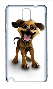Samsung Galaxy Note 3 N9000 Cases & Covers - Happy Puppy PC Custom Soft Case Cover Protector for Samsung Galaxy Note 3 N9000 - White