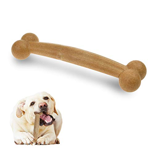 LECHONG Dog Chew Toys Bacon Flavored Classic Bones Shape Tough Dog Toys for Puppy and Small Medium Dogs for Chewing Training and Playing