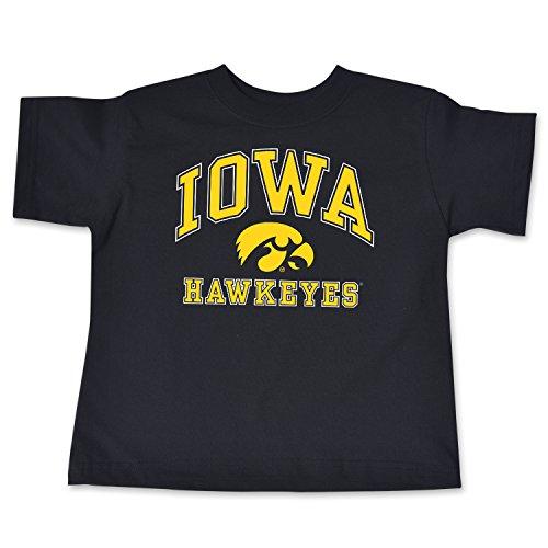 NCAA Iowa Hawkeyes Toddler Short Sleeve Tee, 2 Toddler, Black