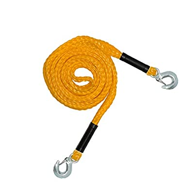 RPS Outdoors SI-2034 Recovery Tow Safety Rope (4,500 lb. Break Strength) with Safety Steel Forged Hooks (14 Ft. x 1.25 In.): Automotive