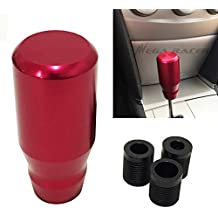 Universal Metal RED Manual Transmission Speed 4 5 6 Sport Gear Stick Shift Knob JDM Style Auto US Shifter Console Lever