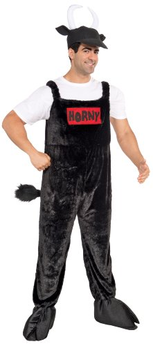 Forum Horny Bull Costume, Black, Standard by Forum Novelties