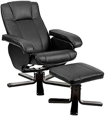 Stupendous Amazon Com Recliner Chair With Ottoman Black Julyfox Faux Pabps2019 Chair Design Images Pabps2019Com