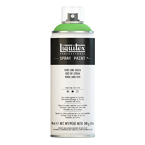 Lime Green Spray Paint - Liquitex 4450740 Professional Spray Paint 12-oz, Vivid Lime Green