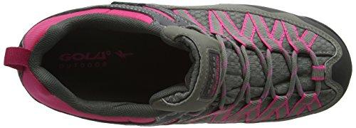 Gola Swiss - Zapatos de Low Rise Senderismo Mujer Grey (Grey/Pink/Black)