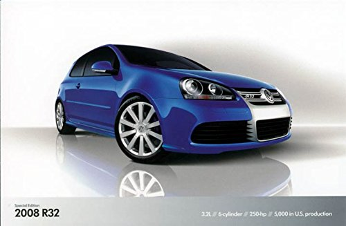 2008 Volkswagen R32 ORIGINAL Factory Postcard