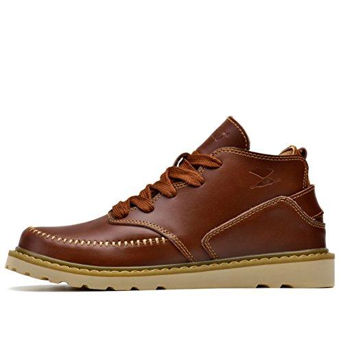 Herren Freizeitschuhe Dress Bergsteigen Herbst Outdoor Stiefel Sport Schuhe Rutschen Schwarzbraun Rot