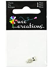 Wee Creations 1-Piece Owl Charm, Silver