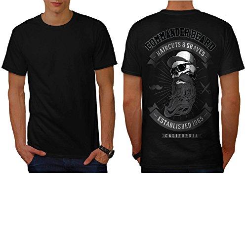 Command Beard USA Haircuts Men NEW M T-shirt Back   Wellcoda (50s Haircuts)