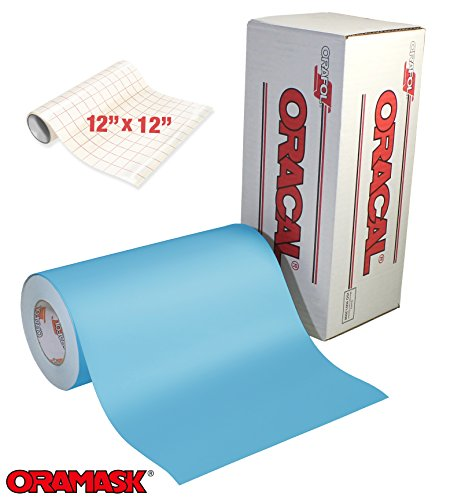 ORACAL Oramask 813 Low-Tack Paint Stencil Vinyl Roll Bundle (6ft x 1ft w/Transfer paper)