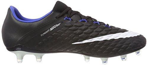 Nike Hypervenom Phantom Iii (Fg), Scarpe da Calcio Uomo Nero (Black/White-game Royal)
