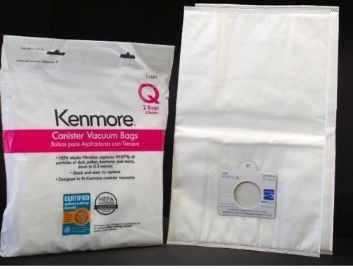 Kenmore Q HEPA Vacuum Bags Synthetic for Canister 2 PACK