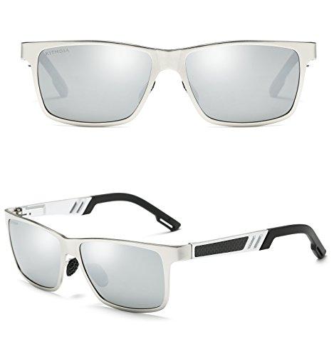 los aluminio conducción de la viaje hombres de para gafas magnesio deportiva de y KITHDIA Plateado polarizadas sol OYSwwq