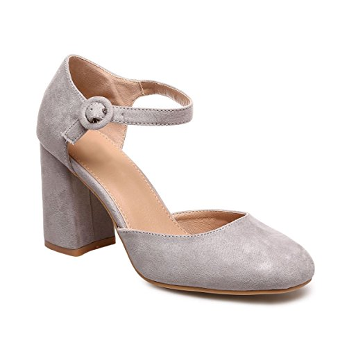 Zapatos De Gris Sintético Mujer Modeuse La Material Vestir pwqx5E1v