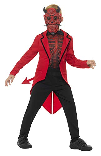 Smiffy's Deluxe Day of The Dead Devil Boy Costume, Red, Small ()