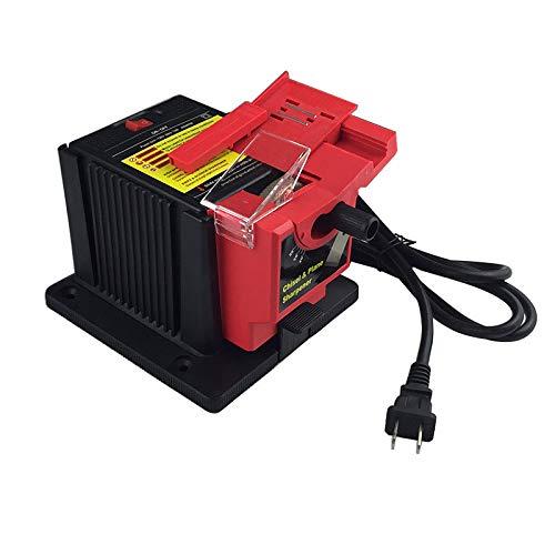 Basde Professional Rotary Tool Kit, 65W Electric Grinder Multifunction Sharpener Grinding Drill Tool Purpose Sharpening Machine Scissor Shears Drill Bit Plane Chisel Sharpener (Red)