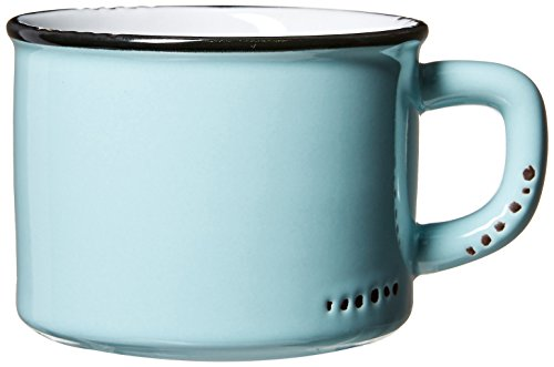 Abbott Collection Enamel Look Stoneware Cappuccino Cup, Green