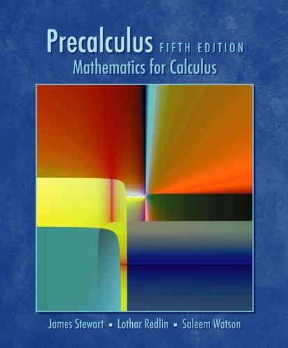 Precalculus: Mathematics for Calculus Pdf