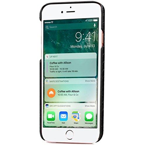 iPhone 8 Plus Funda piel PU Case Cover Carcasa Tapa trasera piel vegana premium con cartera para Apple iPhone 8 Plus original - Ultrafina con bolsillo tarjetero. A
